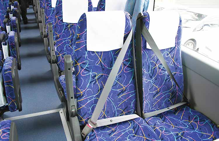 Installing seat belts in sightseeing buses overseas